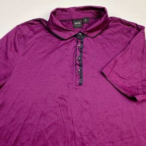 Hugo Boss Men's Short Sleeve Polo Size XL Purple